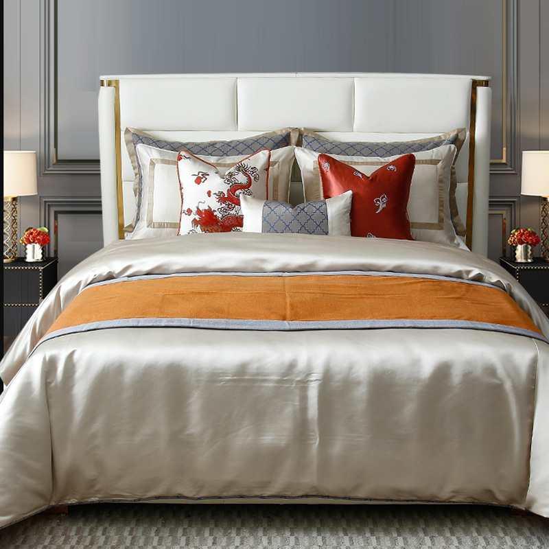 LFN-C-1004新中式轻奢样板房样板间床上用品