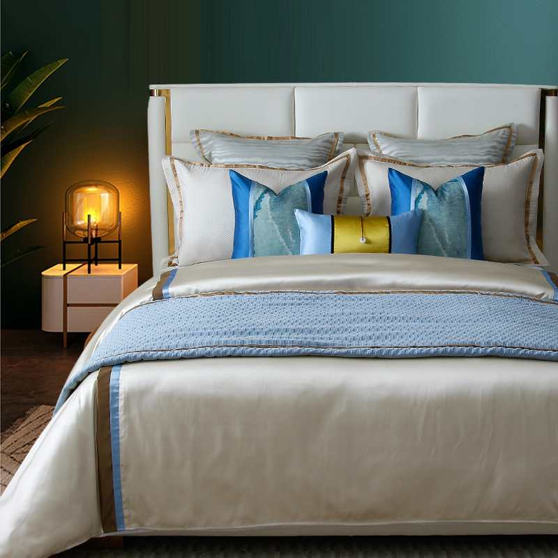 新中式轻奢样板房样板间床上用品1320