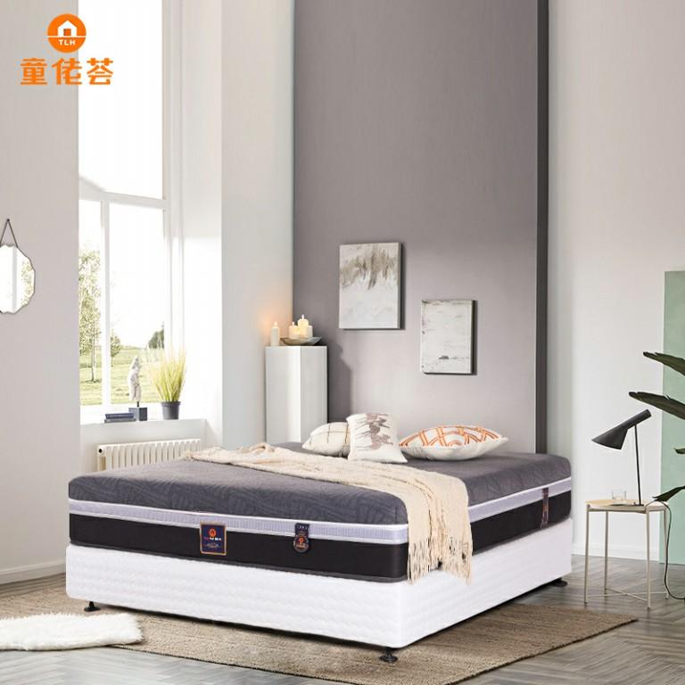 五星酒店专用加厚乳胶带独立筒弹簧超静音助眠床垫TM018
