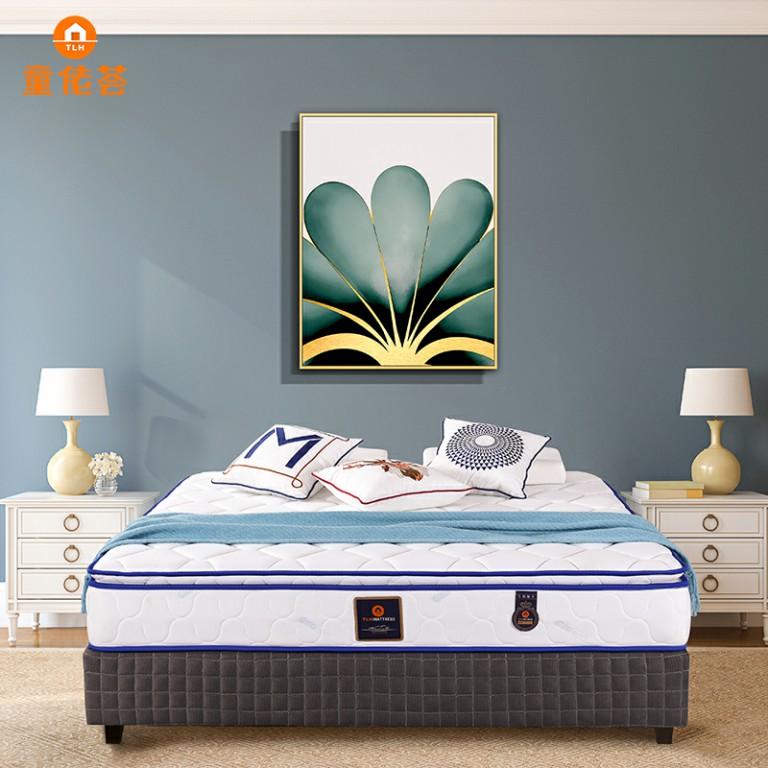 负离子面料软硬适中深度助眠双人大床垫TM006