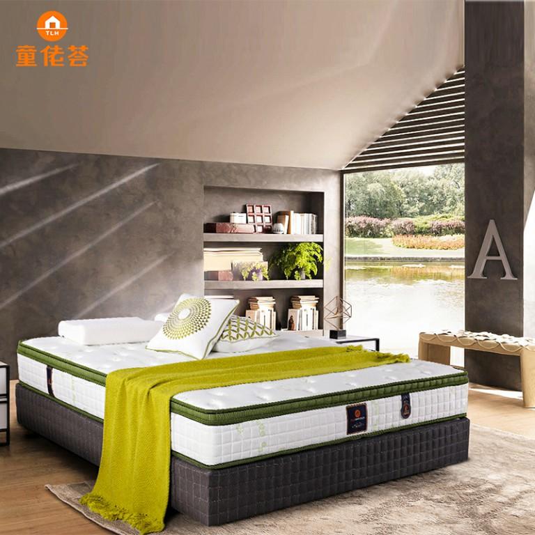 定制款软硬可调高碳钢高密度海棉助眠主卧双人床垫TM009