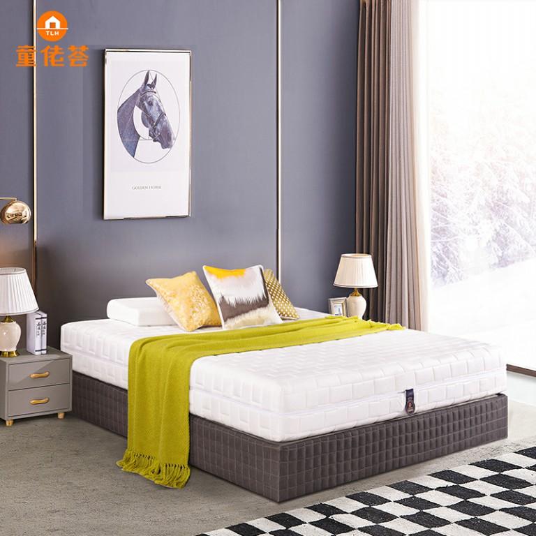 新款双人精钢弹簧柔软助眠主卧乳胶床垫TM010