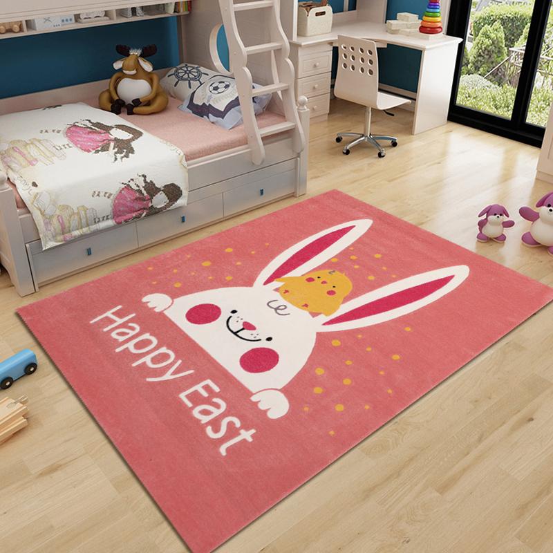 家用少女房间卧室手工腈纶床边地毯
