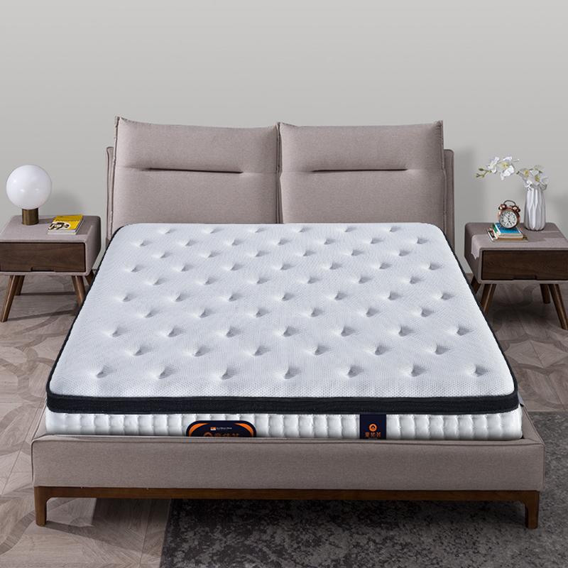 天丝针织布乳胶高碳弹簧家庭主卧双人床垫MZD05