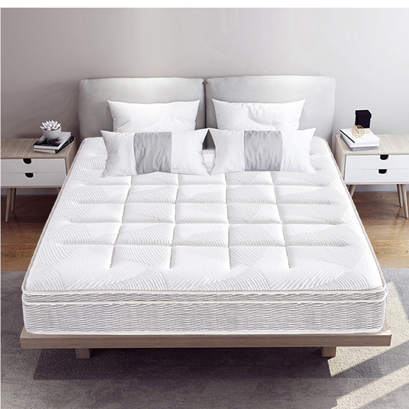 新款亲肤羊驼面料带独立弹簧环保椰梦维助眠双人乳胶床垫MZD03