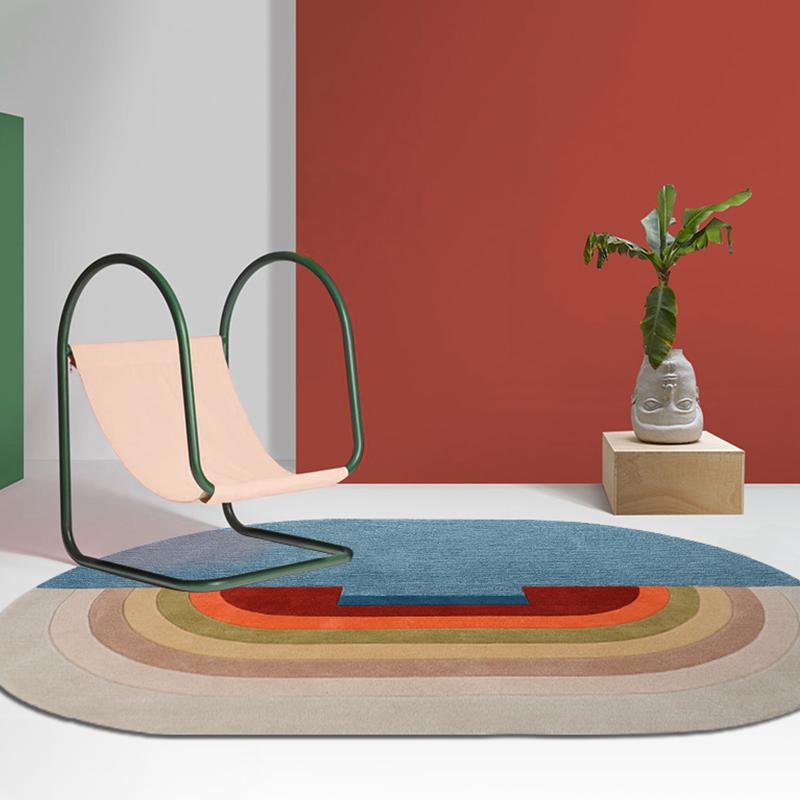 手工腈纶地毯家用儿童房卧室床边地毯