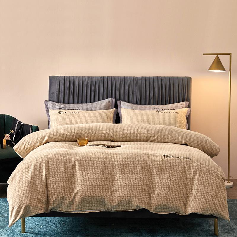 全棉活性磨毛肌理纹潘多拉(驼)系列床单床笠款