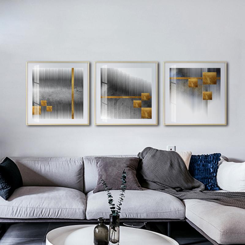 客厅卧室抽象晶瓷挂画