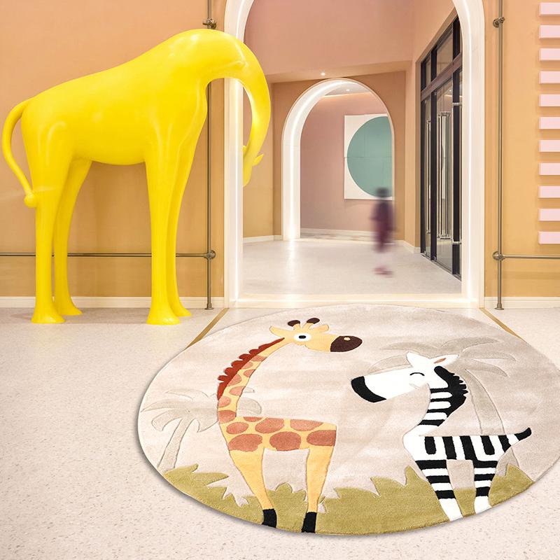KM-JL009可爱卡通儿童手工地毯
