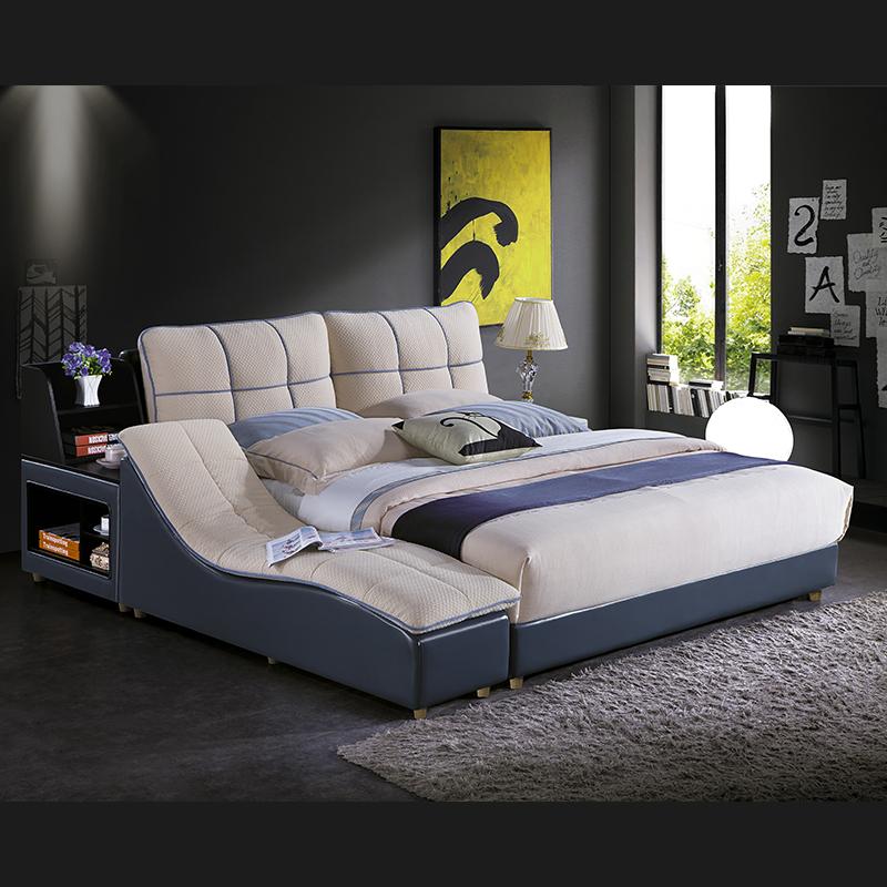 现代轻奢布艺软床榻榻米双人床1820