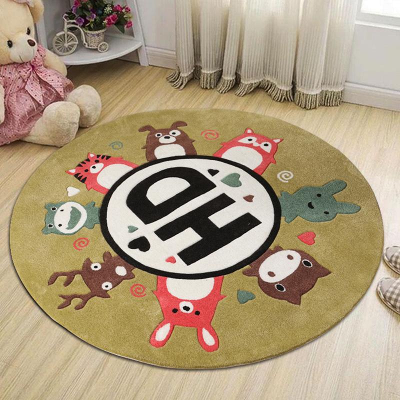 KM-JL013可爱卡通儿童手工地毯