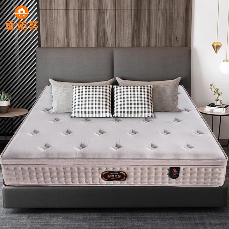 新款白金人棉面料环保椰梦维高碳钢护脊床垫MZD09