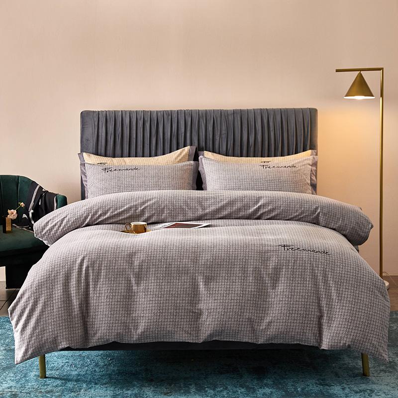 全棉活性磨毛肌理纹潘多拉(灰)系列床单床笠款