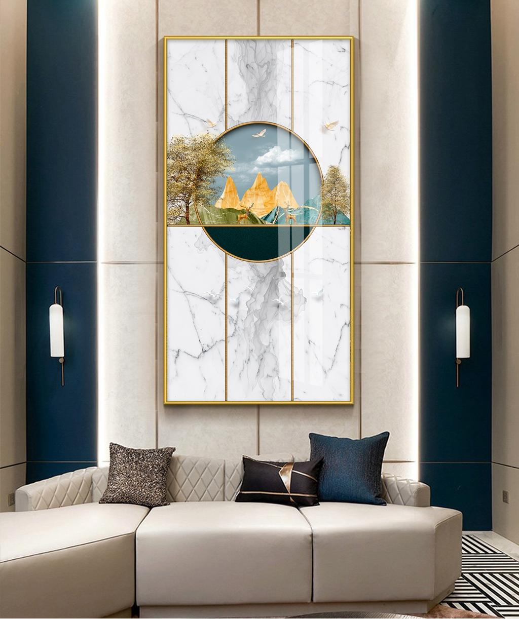 客厅玄关晶瓷挂画-福禄高升