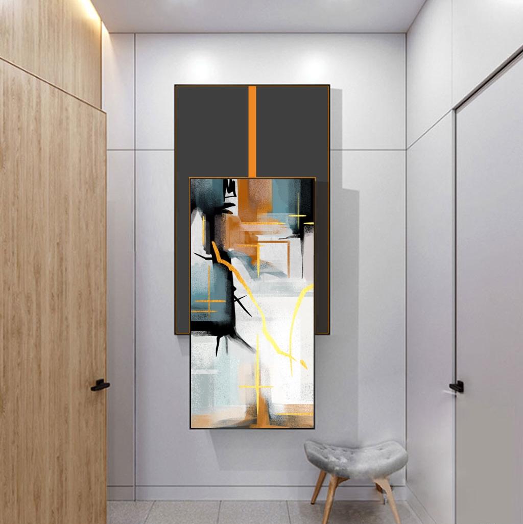 抽象艺术双拼晶瓷挂画3170089