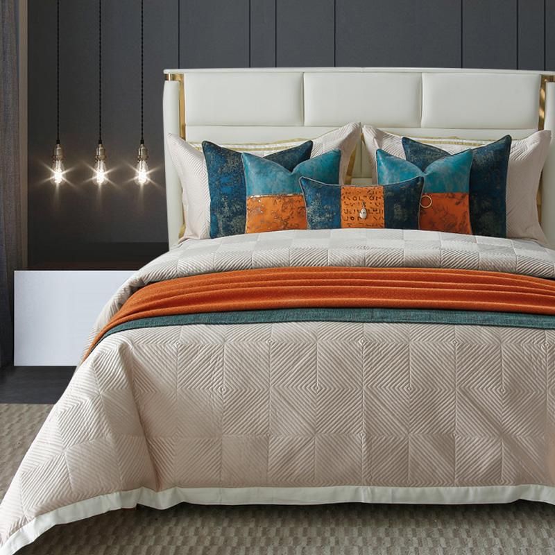 LW-QS144新中式轻奢样板房样板间床上用品