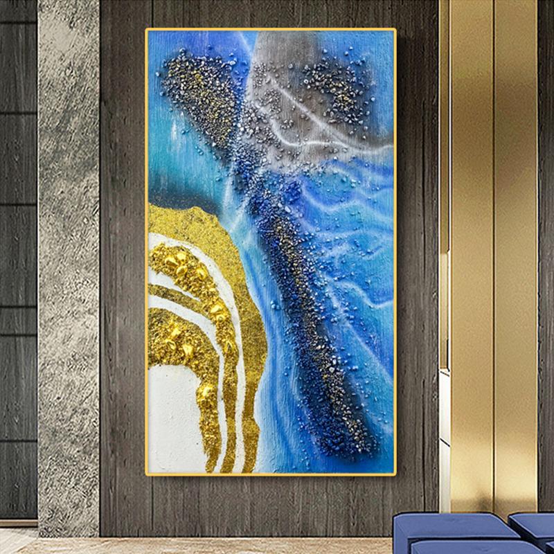 现代简约样板房摄影美学装饰画手绘玄关油画