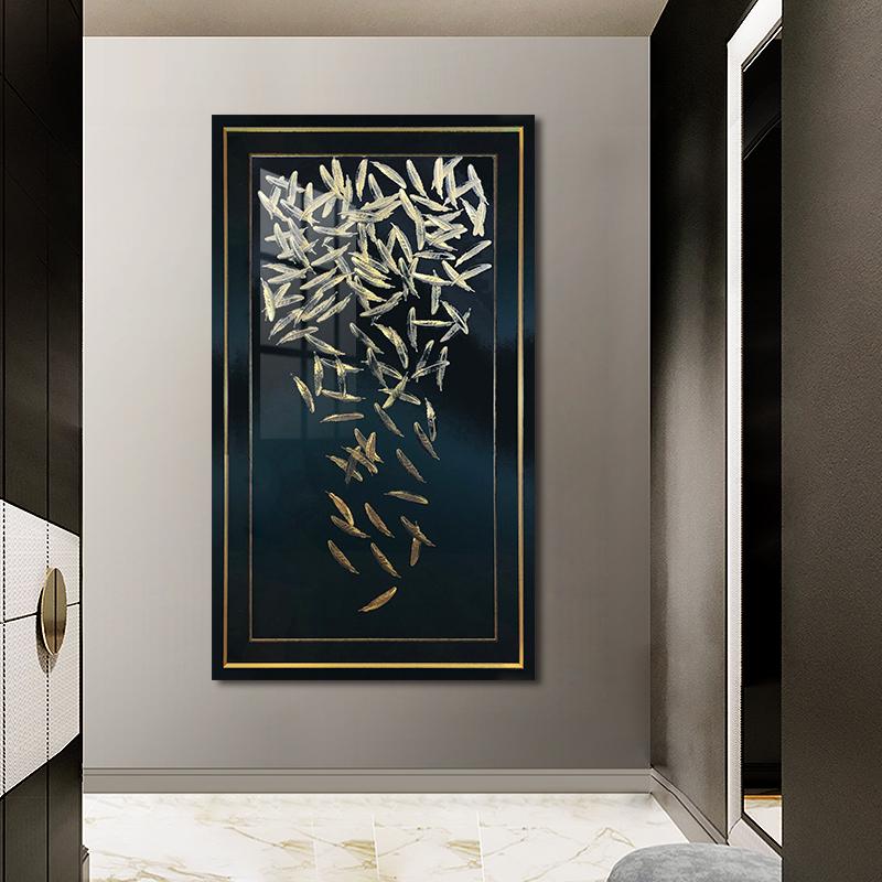 现代简约轻奢客厅玄关装饰画客厅北欧餐厅艺术挂画吉光凤羽