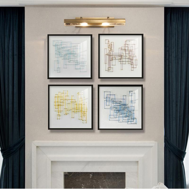 现代轻奢北欧风艺术装饰画卧室客厅挂画四维空间