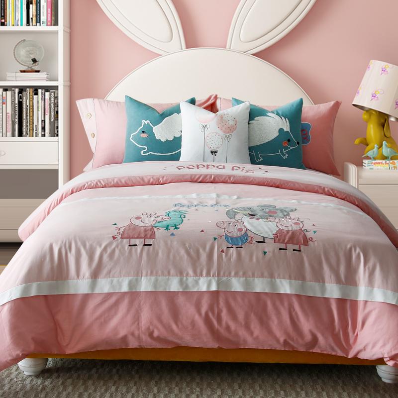 家具展厅儿童房纯棉床上用品样板间床品